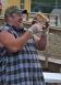 Larry the Cable Guy loved the 160 pound burger.
