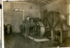 Chester Ziegenbein in Engine Room of Sawmill Circa 1914