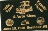 Advertizing  for the  auto   show and family picnic